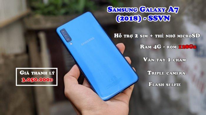Điện thoại Samsung Galaxy A7 2018 2 SIM0