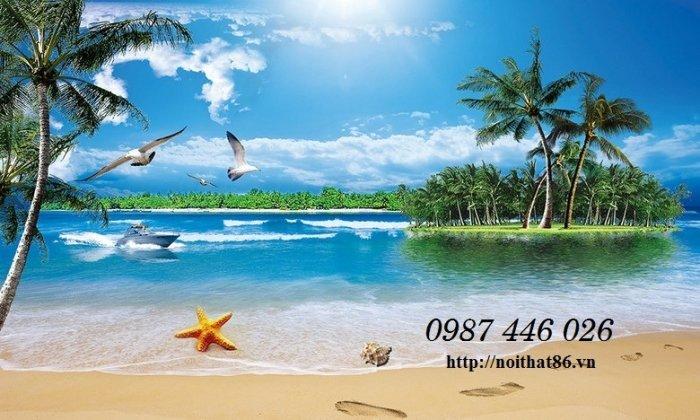 Gạch tranh bãi biển 3d HP0789810