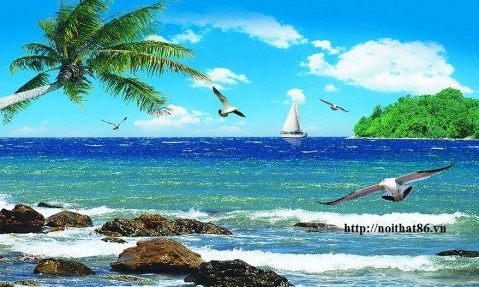 Gạch tranh bãi biển 3d HP078989