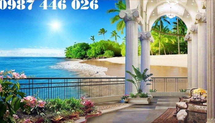 Gạch tranh bãi biển 3d HP078988
