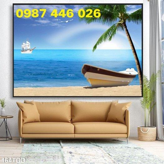 Gạch tranh bãi biển 3d HP078987