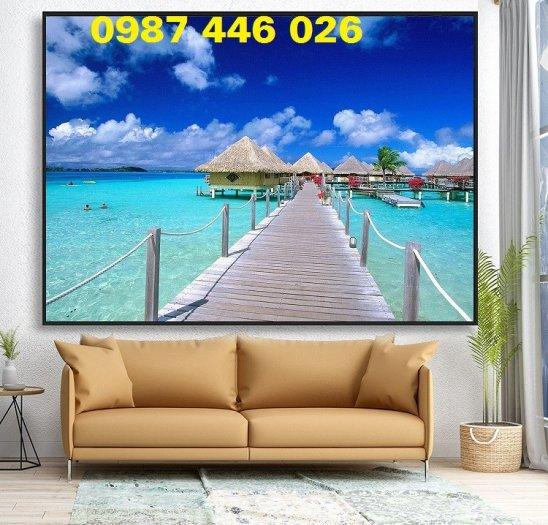 Gạch tranh bãi biển 3d HP078986