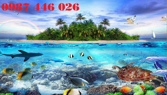 Gạch tranh bãi biển 3d HP078984