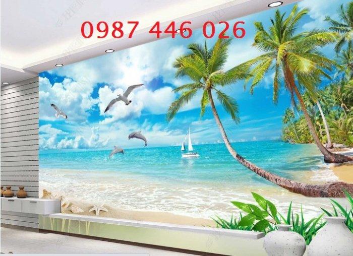 Gạch tranh bãi biển 3d HP078981