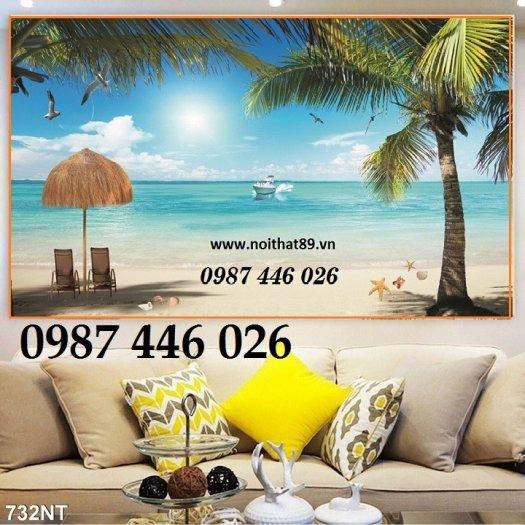 Gạch tranh bãi biển 3d HP078980