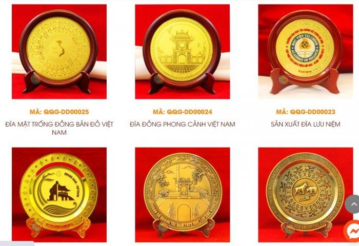 Sản xuất đĩa đồng đúc, Đĩa đồng lưu niệm, đĩa đồng mạ vàng2