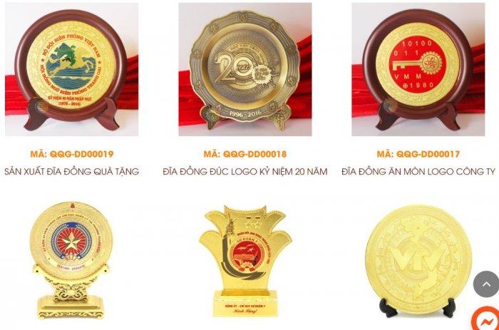 Sản xuất đĩa đồng đúc, Đĩa đồng lưu niệm, đĩa đồng mạ vàng1