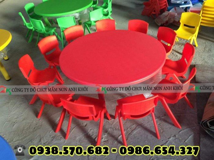 Bàn ghế nhựa mầm non hàng nhập khẩu0