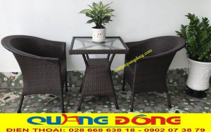 Bàn ghế giả mây cafe QD-0741
