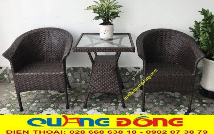 Bàn ghế giả mây cafe QD-0740