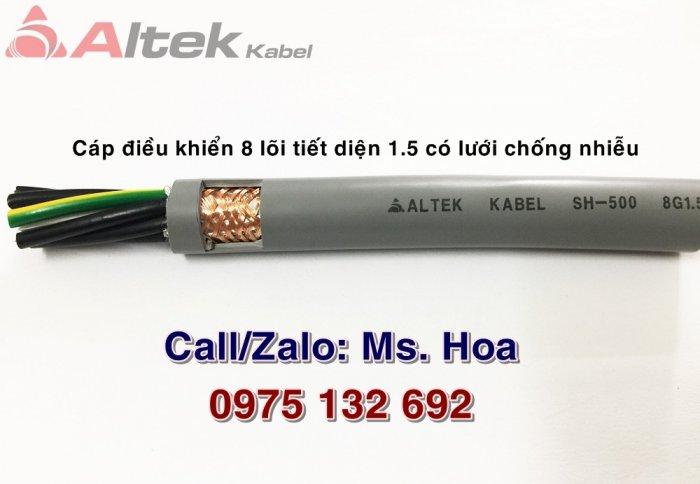 Cáp điều khiển 8x0.5, 8x0.75, 8x1.0, 8x1.5mm2 chống nhiễu Altek Kabel0