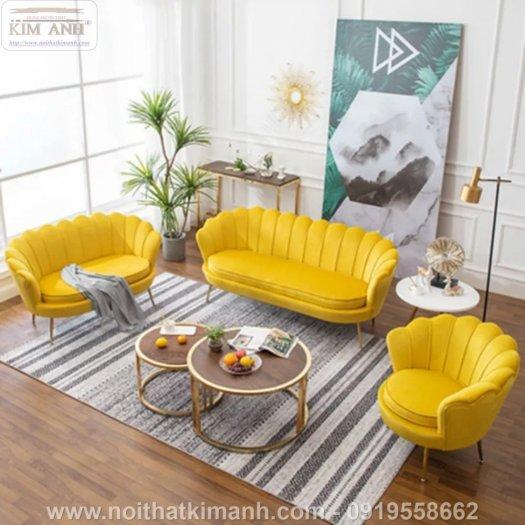 Ghế sofa vỏ sò bọc nỉ cao cấp cho phòng khách tại Phú Giáo - Bình Dương11