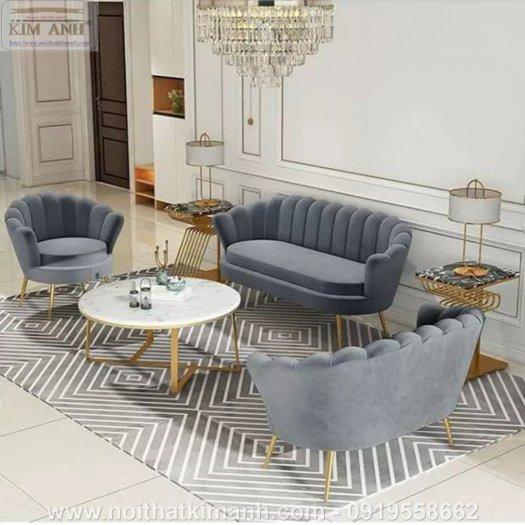 Ghế sofa vỏ sò bọc nỉ cao cấp cho phòng khách tại Phú Giáo - Bình Dương10