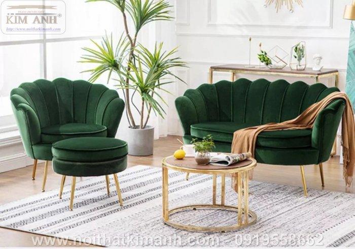 Ghế sofa vỏ sò bọc nỉ cao cấp cho phòng khách tại Phú Giáo - Bình Dương9