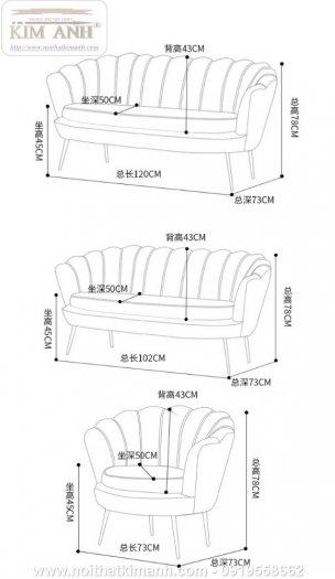 Ghế sofa vỏ sò bọc nỉ cao cấp cho phòng khách tại Phú Giáo - Bình Dương2