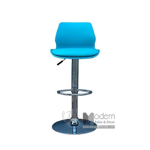 Ghế bar tăng giảm chiều cao thân nhựa nệm ngồi simili hiện đại0