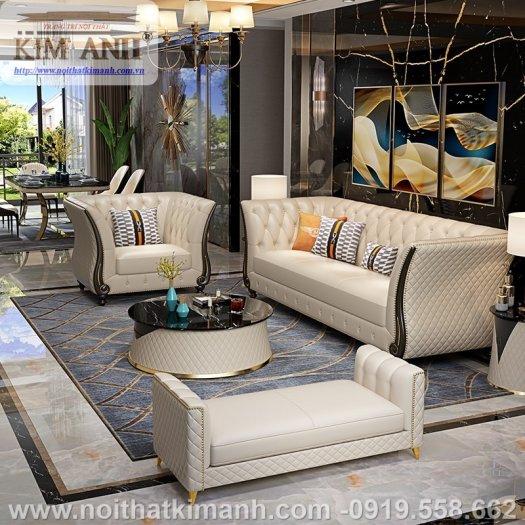 Sofa da công nghiệp cho phòng khách, chung cư tại Biên Hòa, Đồng Nai5