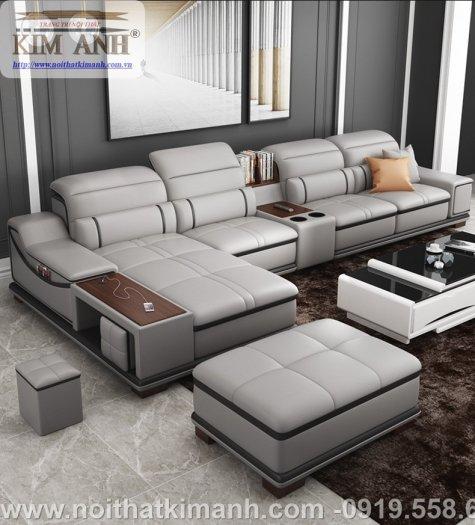Sofa da công nghiệp cho phòng khách, chung cư tại Biên Hòa, Đồng Nai1