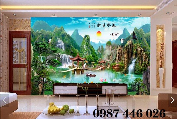 Tranh gạch phong cảnh thiên nhiên ốp tường 3d đẹp HP088811