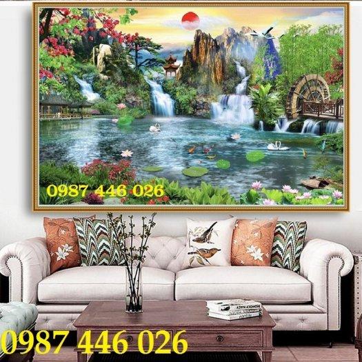 Tranh gạch phong cảnh thiên nhiên ốp tường 3d đẹp HP088810