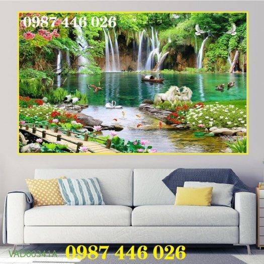 Tranh gạch phong cảnh thiên nhiên ốp tường 3d đẹp HP08889