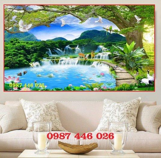Tranh gạch phong cảnh thiên nhiên ốp tường 3d đẹp HP08888
