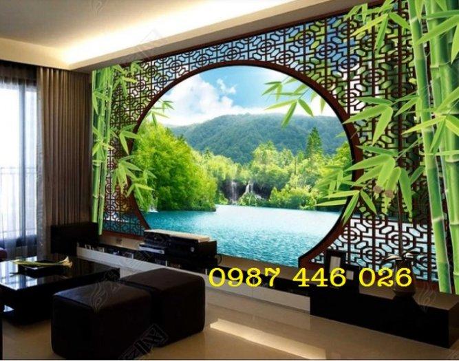 Tranh gạch phong cảnh thiên nhiên ốp tường 3d đẹp HP08886