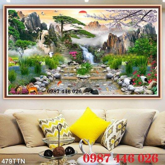 Tranh gạch phong cảnh thiên nhiên ốp tường 3d đẹp HP08883