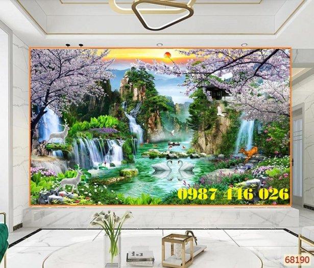 Tranh gạch phong cảnh thiên nhiên ốp tường 3d đẹp HP08881
