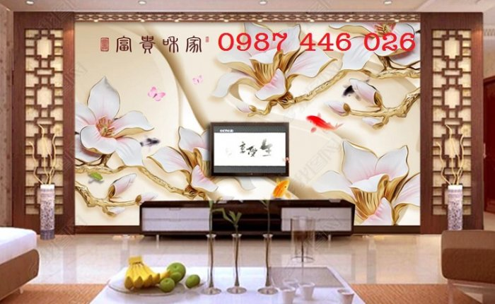 Gạch ôp tường tranh trang trí đẹp Hp02223
