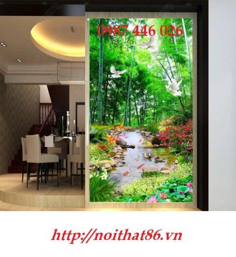 Gạch ôp tường tranh trang trí đẹp Hp02222