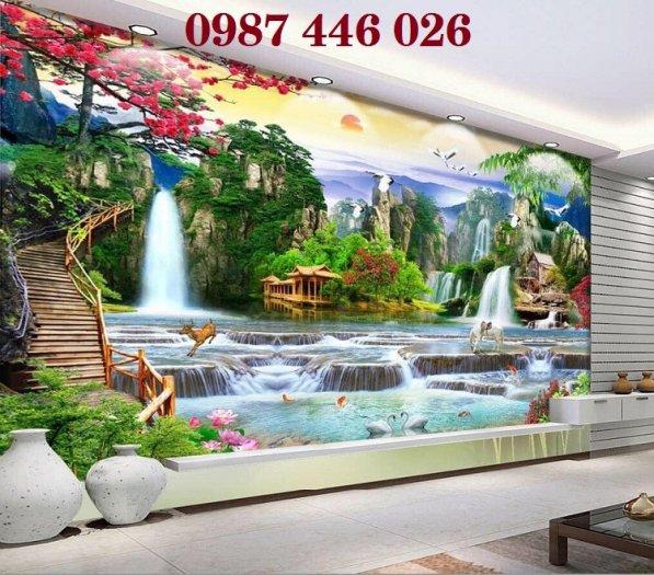 Gạch tranh phong thủy ốp tường phòng khách HP076612