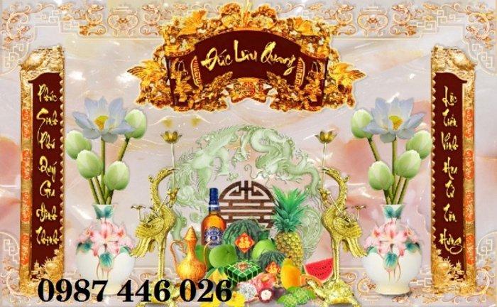 Gạch tranh phòng thờ ốp tường trang trí đẹp HP79909017