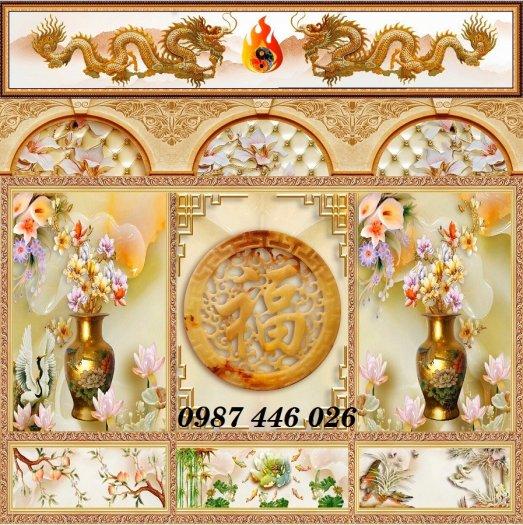 Gạch tranh phòng thờ ốp tường trang trí đẹp HP79909016