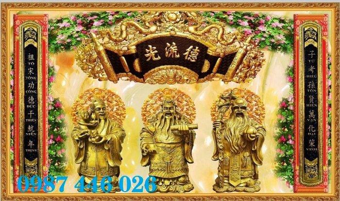 Gạch tranh phòng thờ ốp tường trang trí đẹp HP7990900