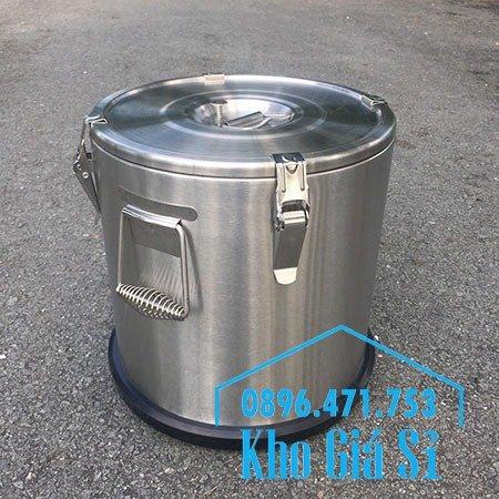 Thùng/Nồi inox cách nhiệt giữ nhiệt 2 lớp có nắp đậy kín vận chuyển chất lỏng dung tích 20L, 30L15