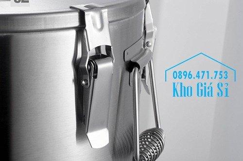 Thùng/Nồi inox cách nhiệt giữ nhiệt 2 lớp có nắp đậy kín vận chuyển chất lỏng dung tích 20L, 30L7