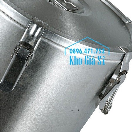 Thùng/Nồi inox cách nhiệt giữ nhiệt 2 lớp có nắp đậy kín vận chuyển chất lỏng dung tích 20L, 30L6