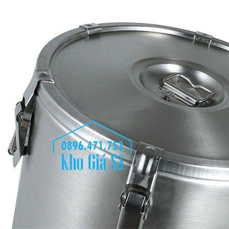 Thùng/Nồi inox cách nhiệt giữ nhiệt 2 lớp có nắp đậy kín vận chuyển chất lỏng dung tích 20L, 30L5