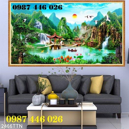 Gạch tranh tường trang trí 3d phòng khách HP79912