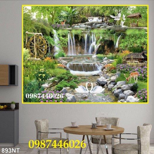 Gạch tranh tường trang trí 3d phòng khách HP7999
