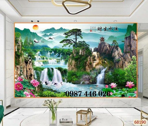 Gạch tranh tường trang trí 3d phòng khách HP7995