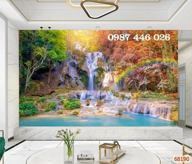 Gạch tranh tường trang trí 3d phòng khách HP7990