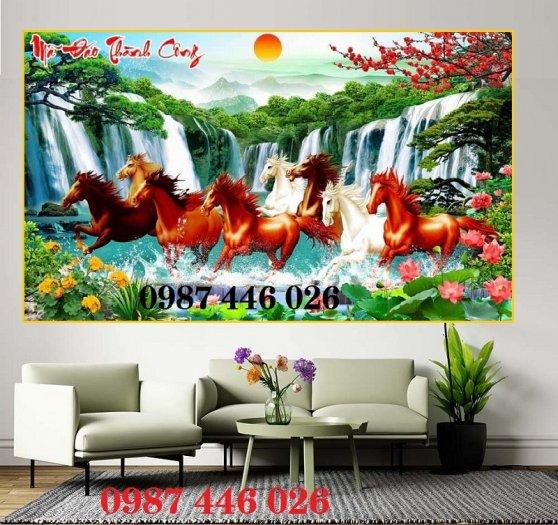 Gạch tranh ngựa ốp tường đẹp HP989016