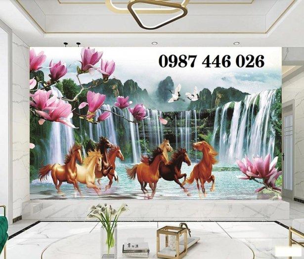 Gạch tranh ngựa ốp tường đẹp HP989014