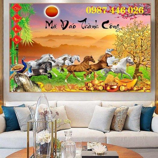 Gạch tranh ngựa ốp tường đẹp HP989013