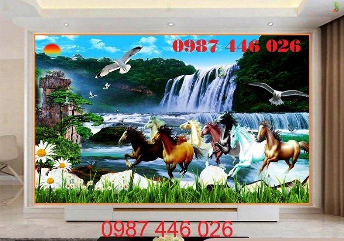 Gạch tranh ngựa ốp tường đẹp HP989011