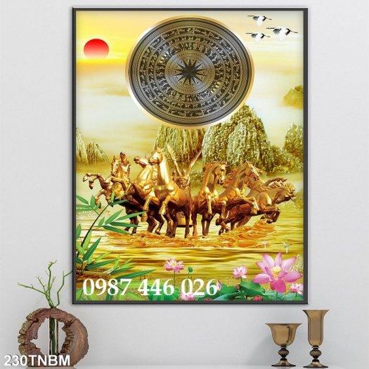 Gạch tranh ngựa ốp tường đẹp HP989010
