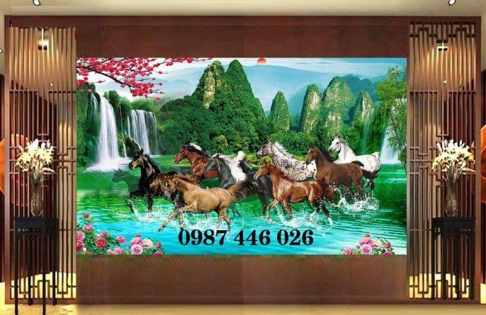 Gạch tranh ngựa ốp tường đẹp HP98909