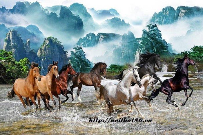 Gạch tranh ngựa ốp tường đẹp HP98908